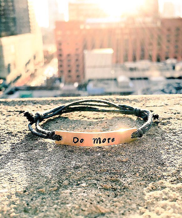NEW 'Do More' Bracelets are on sale now! ��✌️�� https://t.co/eKJxW5toGA