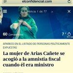 Por la mañana el Ministro Cañete aprobaba la amnistía fiscal. Por la tarde su mujer Micaela se acogía a ella. https://t.co/zMV5Ik6Ah0