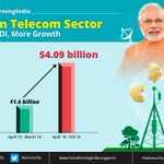 #TransformingIndia: Quantum jump in FDI in telecom sector in the last two years. https://t.co/rwMOZYr7Bo https://t.co/jOJJ85VbSO