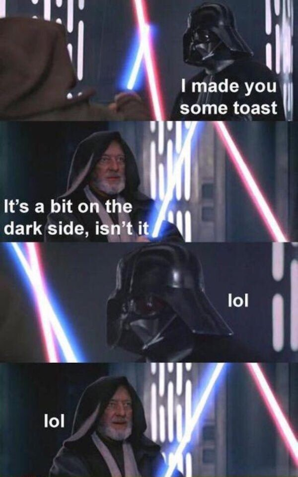 Have some breakfast...maybe some...toast?!? #MayThe4thBeWithYou https://t.co/QRSuhWfadt
