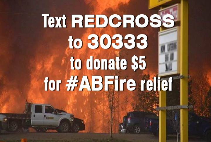 To help the people of Fort McMurray please text REDCROSS to 30333 #YYMFire #ABFire https://t.co/hWAOBOS09j