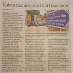 Delhi cabinet under @ArvindKejriwal approved Kalam Memorial at Dilli Haat. Personally its a dream come true for me https://t.co/uzior09cBc