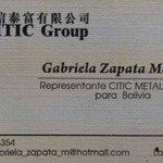 Gobierno admite contactos con empresa china CITIC gracias a gestiones de Gabriela Zapata https://t.co/ufWYtuAy4L https://t.co/iZqJZMolKc 8