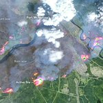 #NASA satellite image of #FortMacFire acquired May 4, 2016 via @NASAEarth #ymmfire #maps #mapping https://t.co/K7wYQY5TRv