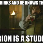 He is one of us. #gameofthrones #tyrion https://t.co/CWvKo8cJpI https://t.co/0vVpEnZS7j