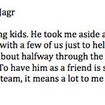 A nice quote from Vincent Trocheck on Jaromir Jagr from #FlaPanthers locker clean out ->> https://t.co/H9zKRrghPy