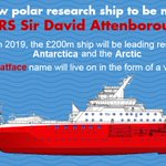 We are pleased to announce the name of our new polar research vessel, RRS Sir David Attenborough #NameOurShip https://t.co/Xwgs9xIGkm