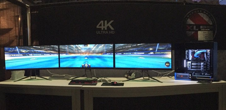 If you're at #DreamHack, be sure to visit PNY booth 324 to experience Rocket League in NVIDIA 4K surround! https://t.co/MKPUprJ6FB
