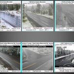 Webcams show snow down to 4300ft this am! Snow level rising today (5000-6000ft)..lowering again tonight. #orwx #cawx https://t.co/3PYbjl6caX