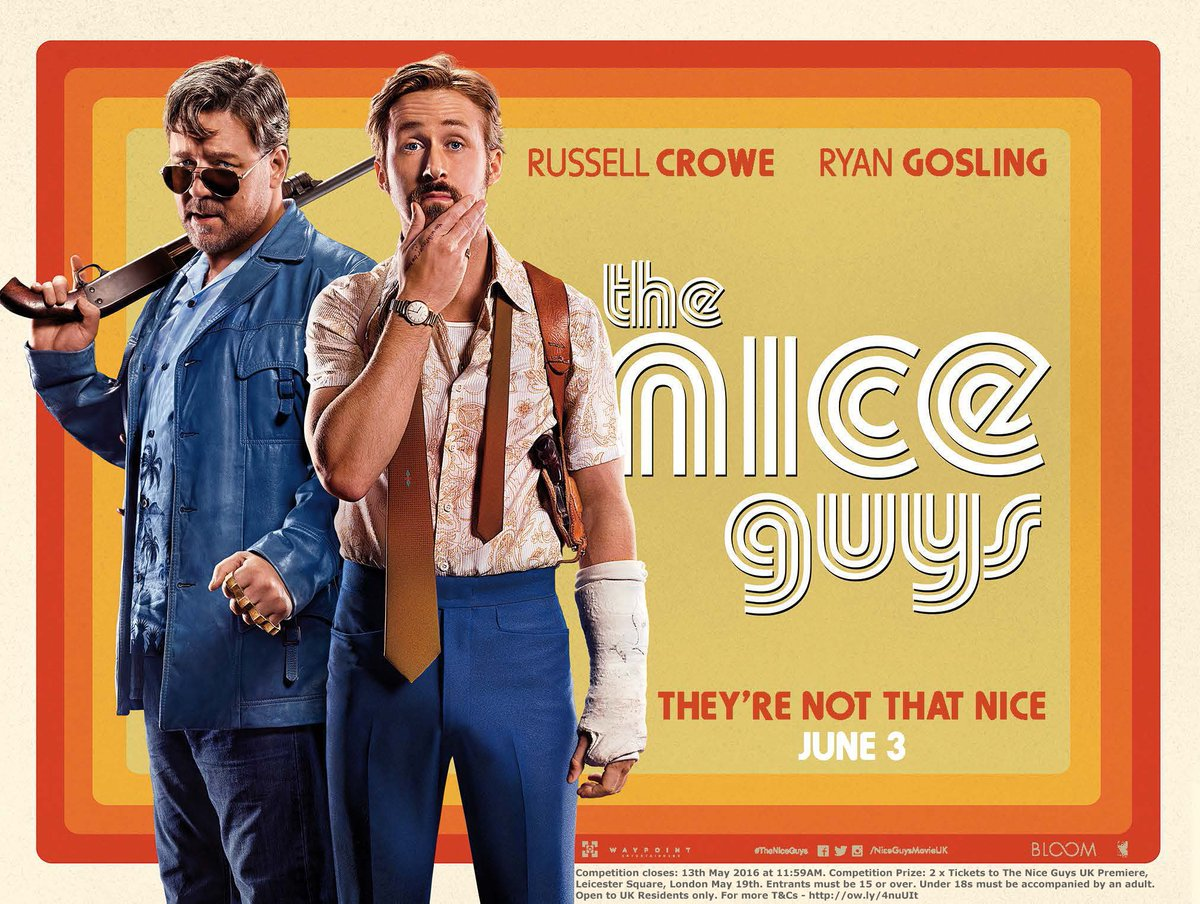 #Win @NiceGuysMovieUK Premiere Tickets in London, May 19. RT to enter! Trailer: https://t.co/AbwU3JhEiD #competition https://t.co/gomQswz6ab