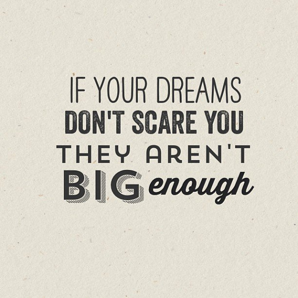 If your dreams don't scare you, they aren't BIG ENOUGH. Have a great day ahead! #dreambig #chaseyourdreams https://t.co/5aE76qztkN