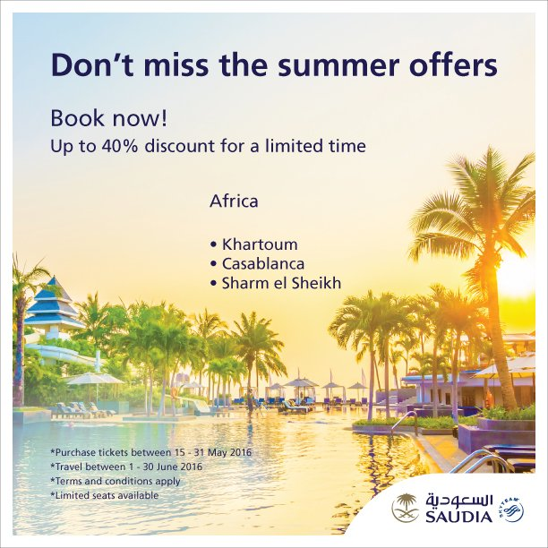 Don't miss the summer offers to Africa  Book now and enjoy up to 40% discount