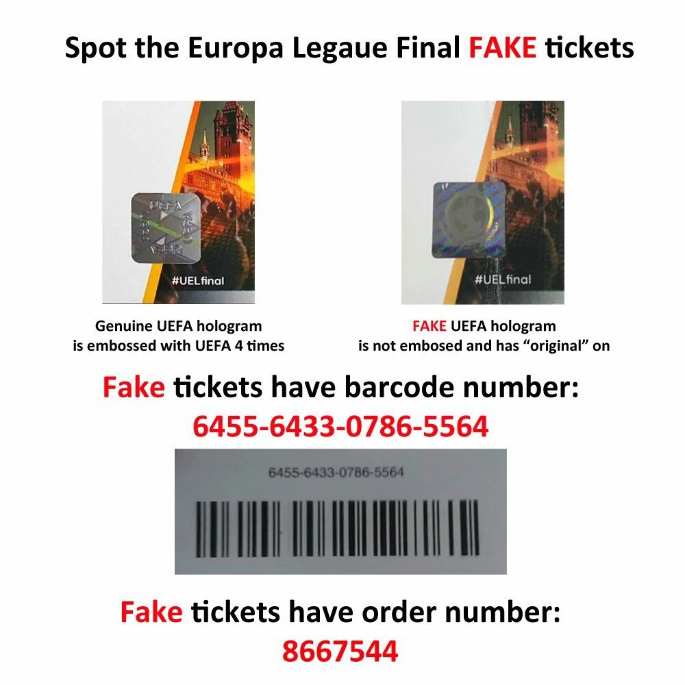 Loads of snide #UELfinal tickets about. Be careful reds.. #LFC https://t.co/hYmFMrvneS