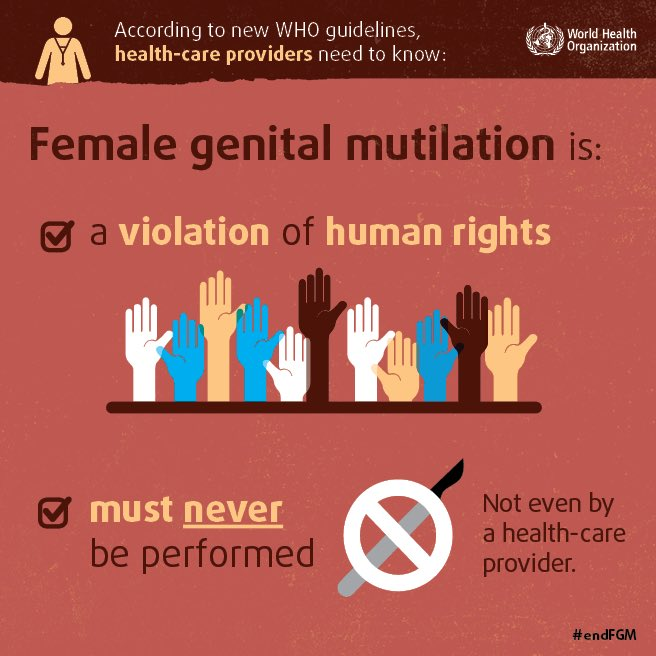 femal genital mutilation and human rights Is female genital mutilation a moral practice female genital mutilation (fgm) is not a morally justified practice it is an unnecessary procedure that has no medical health benefits to the girls and women it is being performed on.