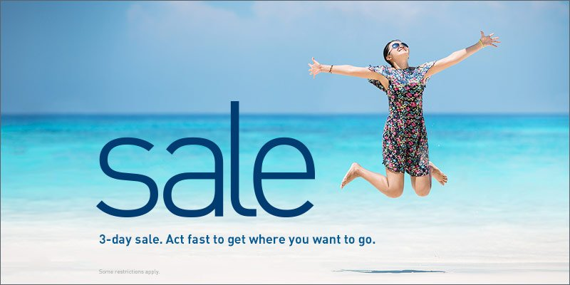 3-day sale Book by 5/19/16 (23:59 MT). Travel from 6/1/16 to 6/28/16.