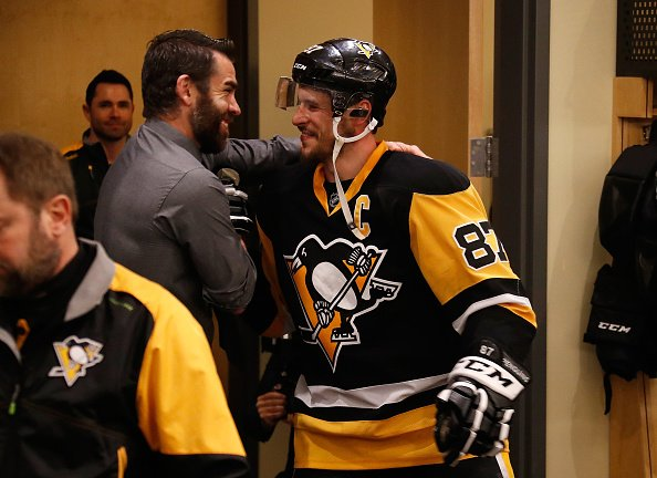Via Getty: Nice pic of Crosby meeting Pascal Dupuis after the OT winner https://t.co/SQatq2CaCL
