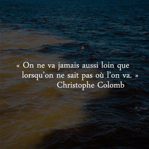Bon matin les copains ! #ChristopheColomb #CitationDuJour https://t.co/hsQQpEakJF