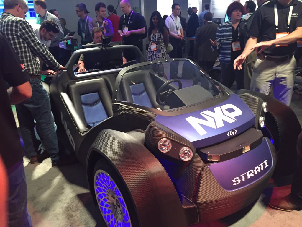 Two days! That's what it took for @LocalMotors to #3D print this awesome car. #NXPFTF https://t.co/1JMpeFhDUl