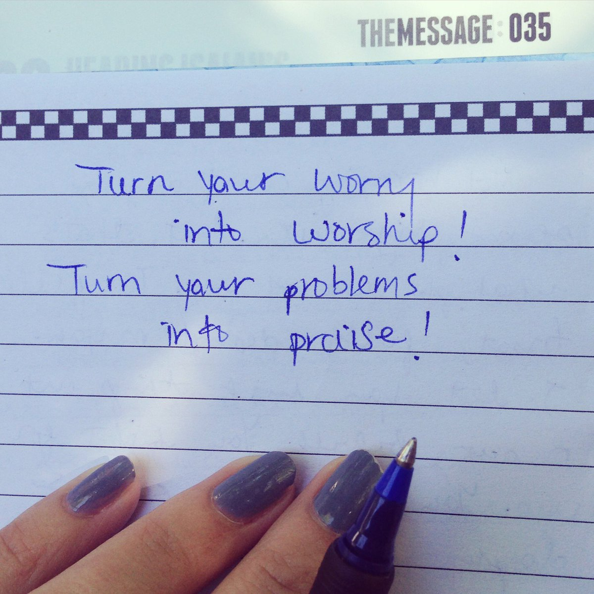 Jesus is challenging me this morning...to throw my hands up and my worries down! #thegodiknow https://t.co/iPtIzxzjJL