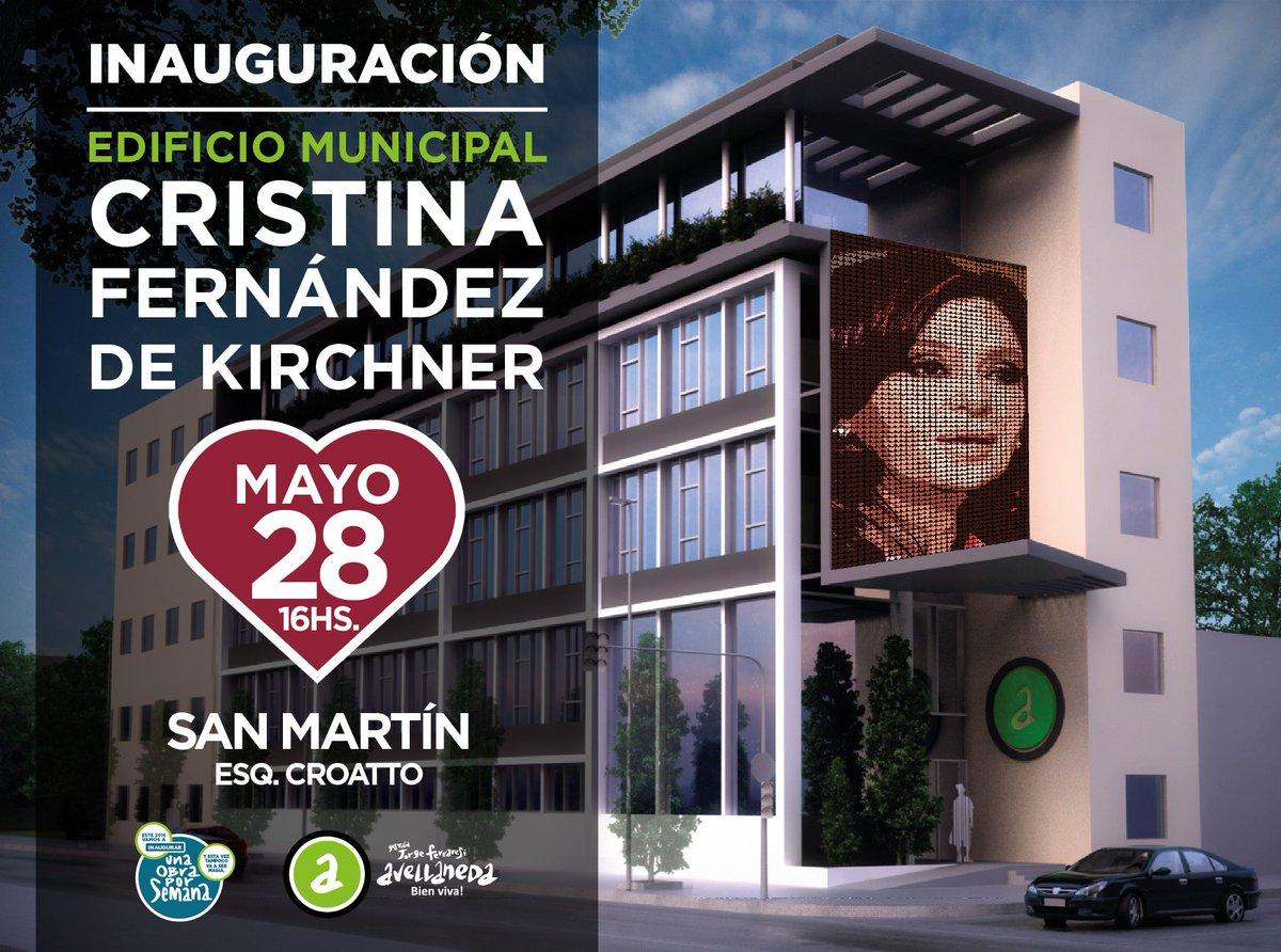 El sábado presentamos el edificio municipal que llevará el nombre de @CFKArgentina . Los esperamos a todos ahí! https://t.co/XvwtVX9kTQ