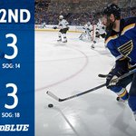 #stlblues and Sharks are all tied up after two periods. Fabbri with the goal for the Blues. #WeAllBleedBlue https://t.co/ySCjzmohmw