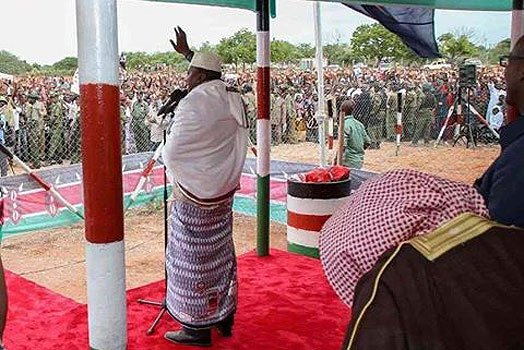 State House defends Uhuru's address to a 'caged' audience