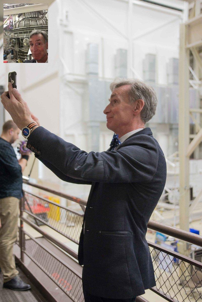 .@BillNye & @RobertPicardo visit @NASAGoddard Check out our gallery: https://t.co/WakBooFh94 https://t.co/YyenGKBrpI