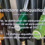 #Carburants Le préfet du #Var procède à des restrictions de la distribution. Infos à 12h sur https://t.co/Xxy70J6Q1F https://t.co/44O7fSUdGh