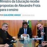 """""""Min da Educaçāo recebe propostas de Alexandre Frota para o ensino"""". Educaçāo ou penetraçāo? https://t.co/EHvavvmoim"""