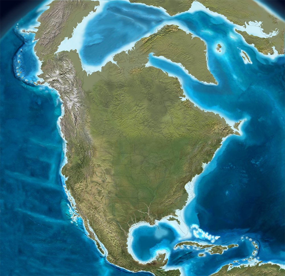 North America coastline at the last Ice Age  #map #maps https://t.co/M7uB94ygZZ
