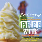 FREE WHIP TODAY! Courtesy of or friends at Blu Current Credit Union 5/26/2016 4-6pm at 1517 W Battlefield https://t.co/ZUxCpKZwrg