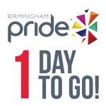 JUST 1 DAY TO GO! ???? ???? ???? Its our BIGGEST @BirminghamPride LINE-UP EVER! TIXS: https://t.co/RcVIvpmQ7j #Pride20 ???? https://t.co/f1tM0YKGq8