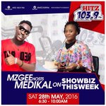 Medikal (@AmgMedikal) will be joining us on #ShowbizThisWeek with @ammzgee tomorrow morning. Make a date! https://t.co/4iE9GhcgXZ