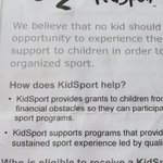 Looking for assistance to help your child get into the game? Check out @KidSportRegina website for eligibility. https://t.co/k9tsHZ0mFX