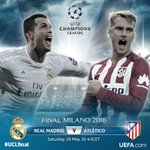 It is here. #UCLfinal day. @Cristiano Ronaldo & @AntoGriezmann ready to shine on the biggest stage. Who takes the ????? https://t.co/9DCOoExoXb
