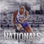 Brianna McGhee punches her ticket to Eugene for the NCAA Outdoor Championships! 🙌 #GoFrogs https://t.co/liPMFczbg4