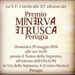 Tutto pronto... #premiominervaetrusca2016 ore 16 #teatro La Sapienza #perugia #umbria #cultura #arte #musica #sport https://t.co/4iABMo1II9