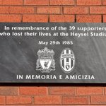 Liverpool FC today remembers the 39 football fans who lost their lives at Heysel Stadium on this day 31 years ago. https://t.co/XoU8nyKlUi