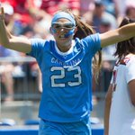 What an upset!  No. 3 UNC ends No. 1 Marylands bid for a perfect season and wins the #NCAAWLAX title. https://t.co/PLBCwT6Efb