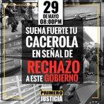 A las 8pm que SUENE FUERTE tu cacerola en contra de la escasez, inseguridad, falta de medicinas! #CacerolazoAlasOcho https://t.co/n4rQccxHAu