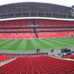 The world famous @wembleystadium prepares for the world famous Green Army #PilgrimsAtWembley #pafc https://t.co/YrD2QZmAGf