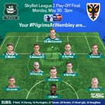 The way the #PilgrimsAtWembley line up this afternoon #pafc https://t.co/GDXFzM9N0z