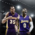Hello there @KDTrey5 @russwest44 ???? #Lakers ???????????? https://t.co/Gup9XgOSmG