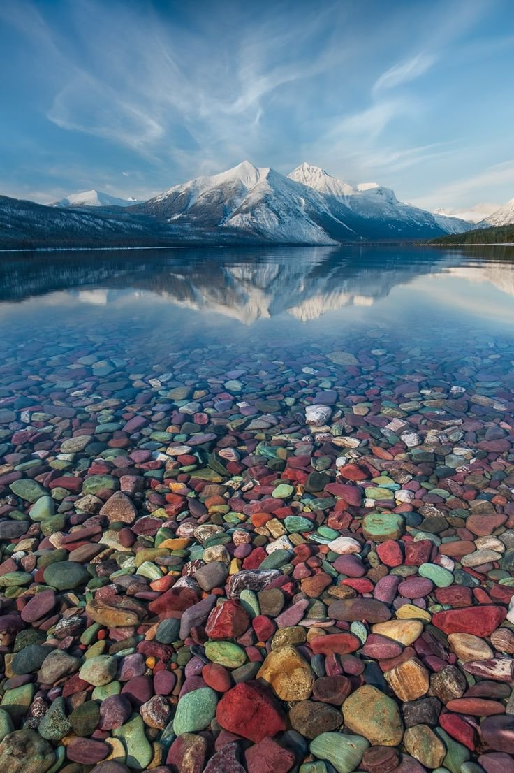 The crystal clear waters of Lake McDonald in Montana | Photography by ©Perri Schelat https://t.co/n8tATDulUk