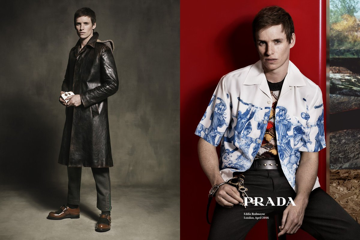 JUST IN: Eddie Redmayne revealed as the face of Prada Menswear for FW16! https://t.co/ZkjDzFn6CR