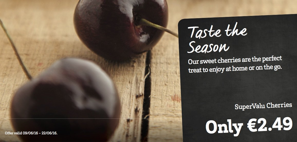 Taste the season with our delicious cherries in store...now that's summer! https://t.co/FjmJShZHqk