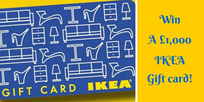 Win a 1,000 Ikea card!Just click > FreebieFriday DIY winitwednesday