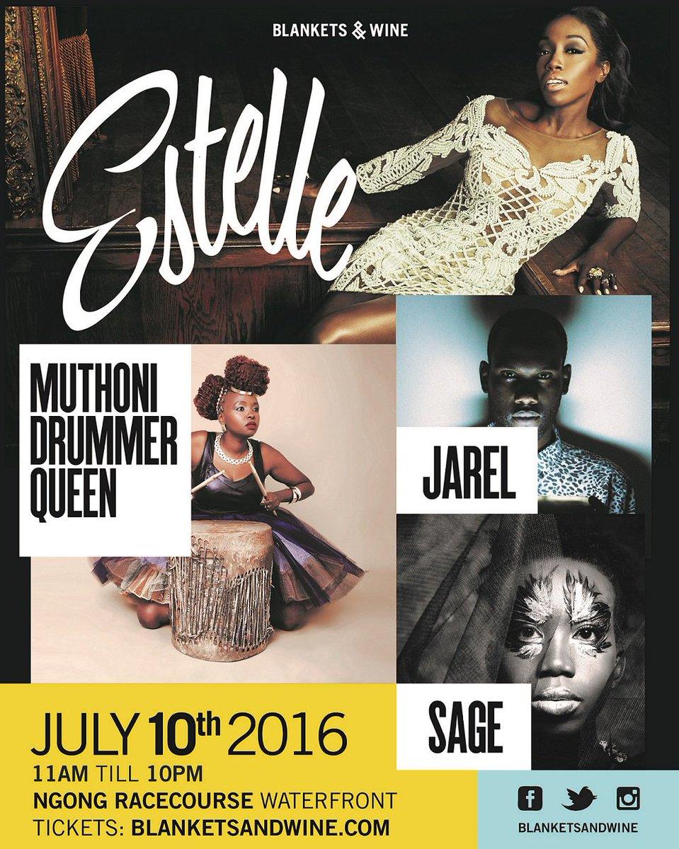 Peep full #BnWJuly lineup! @EstelleDarlings + @muthoniDQ + @Chemutai_sage + @JarelTheArtist =