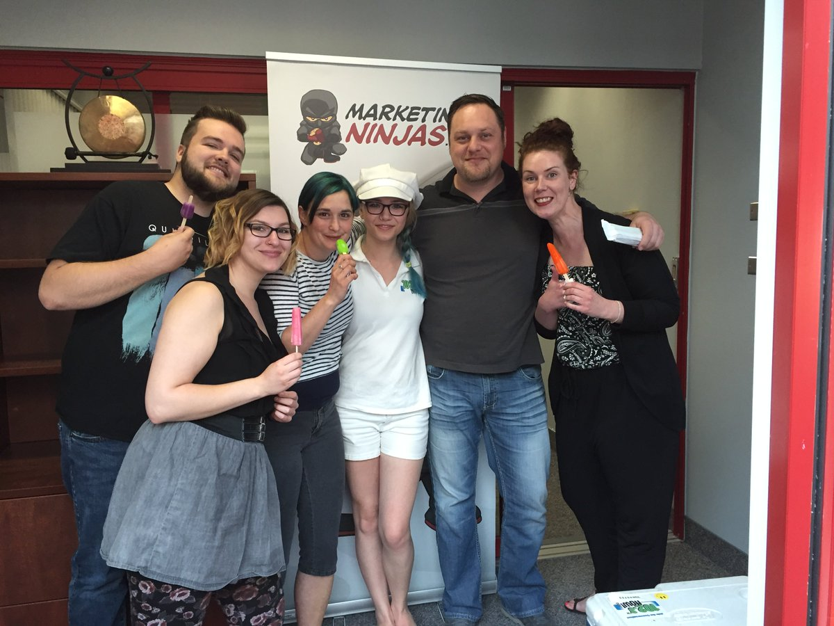The Marketing Ninjas Team cooling off with free popsicles from @1023nowradio Thanks again @NOWtrucksicle! https://t.co/BkL78emvzN