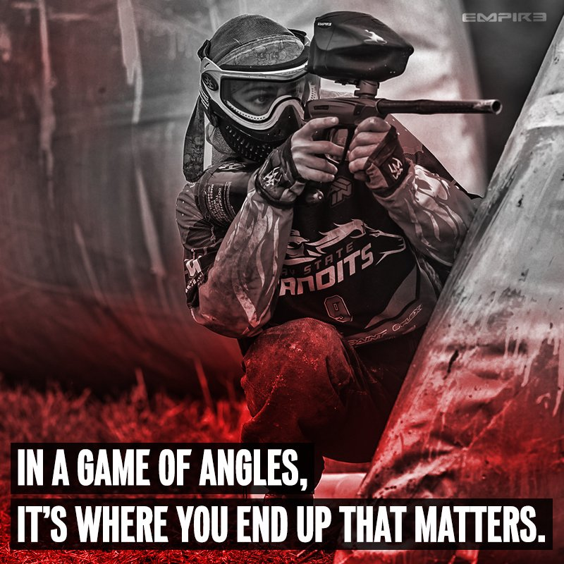 In a game of angles, it's where you end up that matters. #paintball #playpaintball #empirepaintball https://t.co/PmHnnlhMw4
